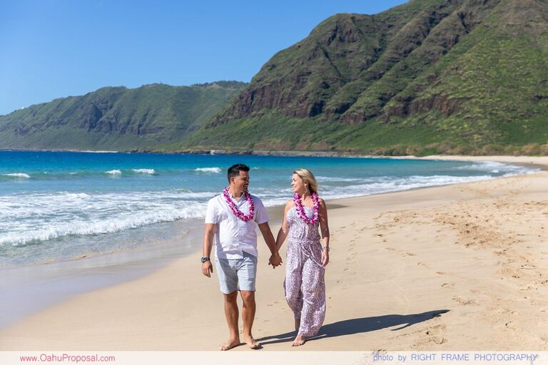 Proposal Photography in Oahu Surprise Picnic Proposal