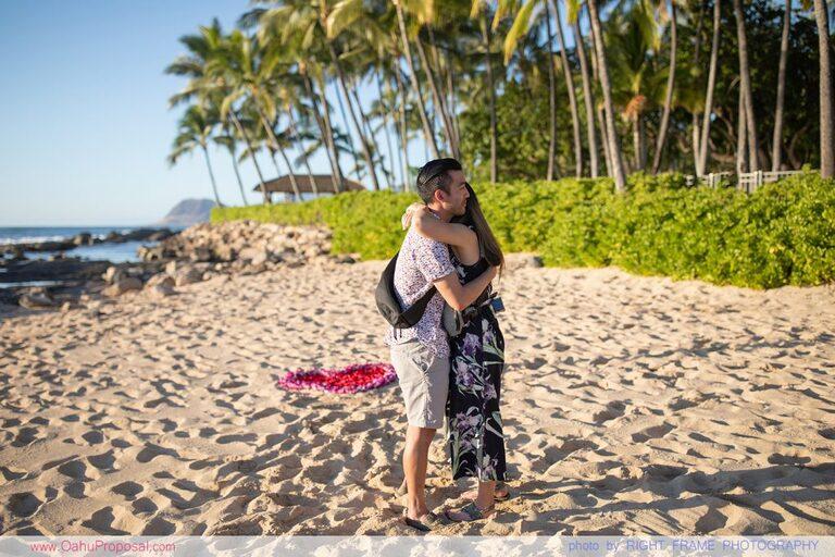 Ko Olina Proposal Photographer Oahu Engagement