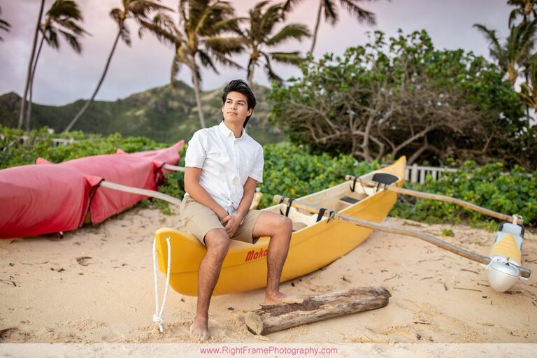 Hawaii Beach Canoe Senior Pictures