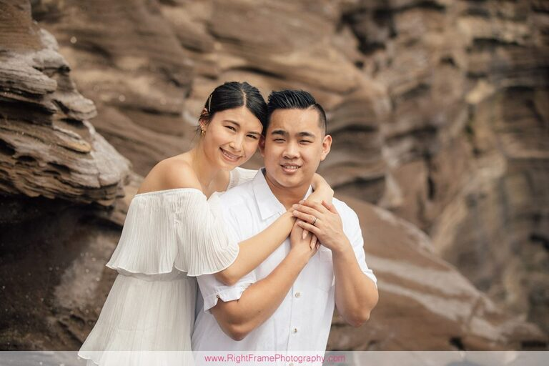 Engagement Pictures at Portlock Oahu Spitting Caves