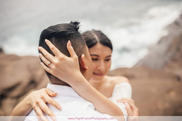 Engagement Photography Portlock Oahu Spiting Caves Cliffs