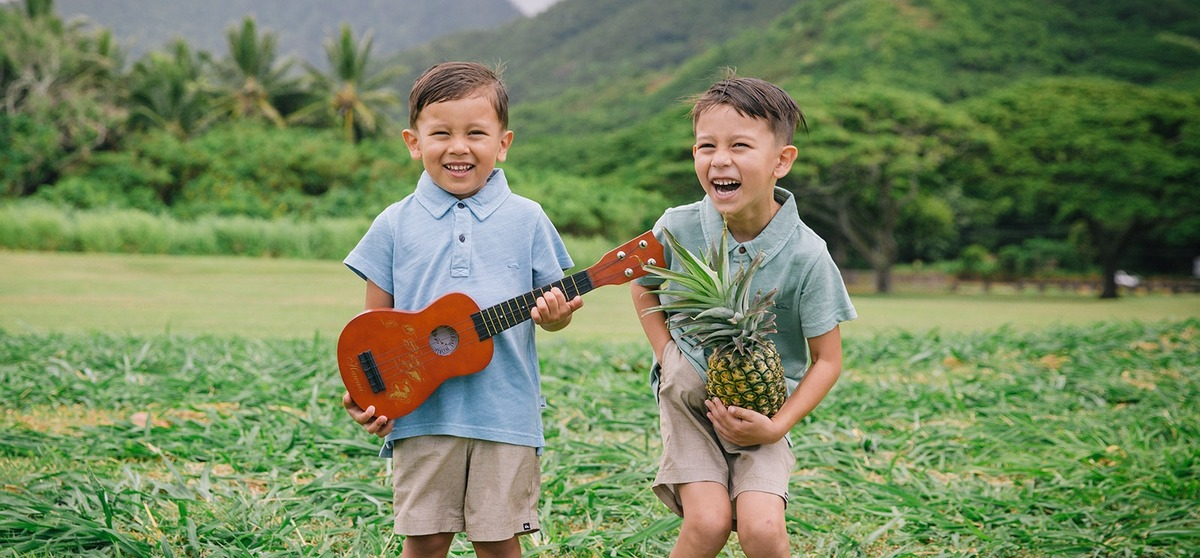 Fun Children Photography Kualoa Ranch Regional Beach Park Oahu Hawaii
