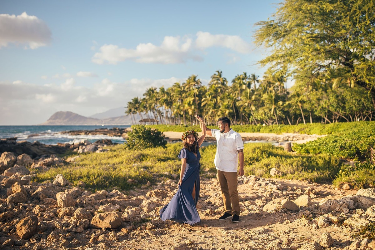 Engagement Sesison Photographer Oahu Hawaii KoOlina