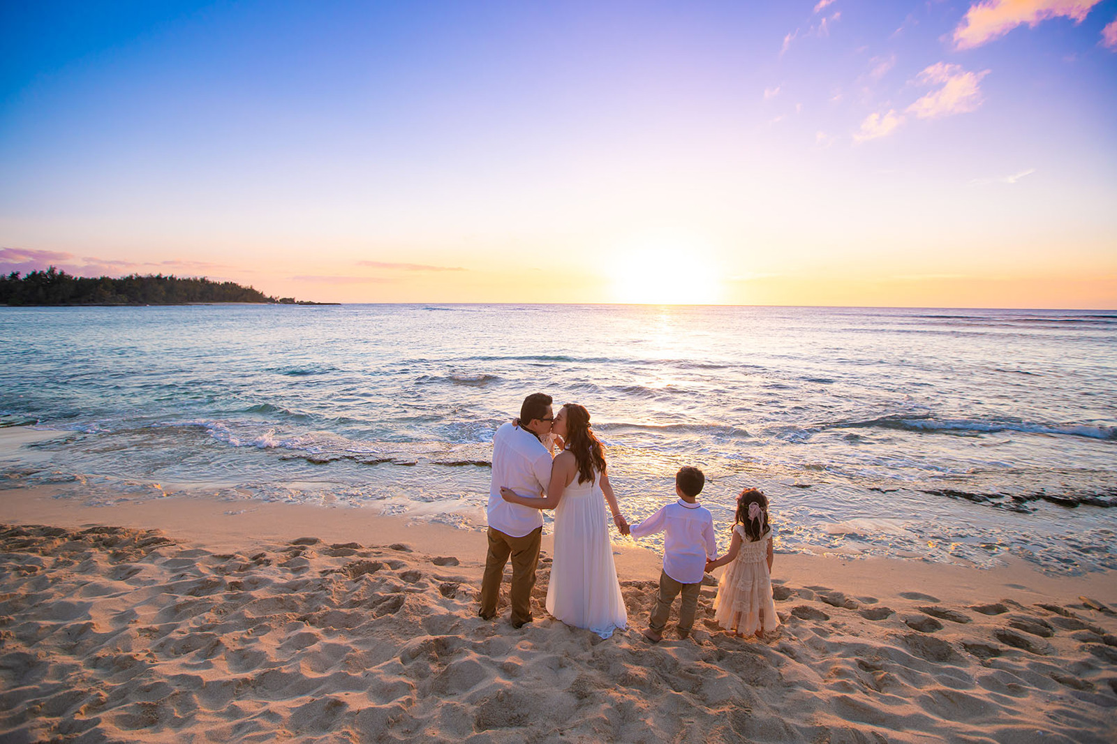 Sunset Oahu Beach Vow Renewal Photography Turtle Bay Resort Hotel North Shore Hawaii