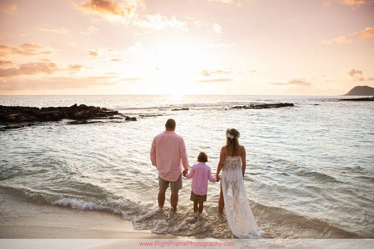 Koolina Maternity Photographer Sunset Pictures Paradise Cove Beach Oahu family