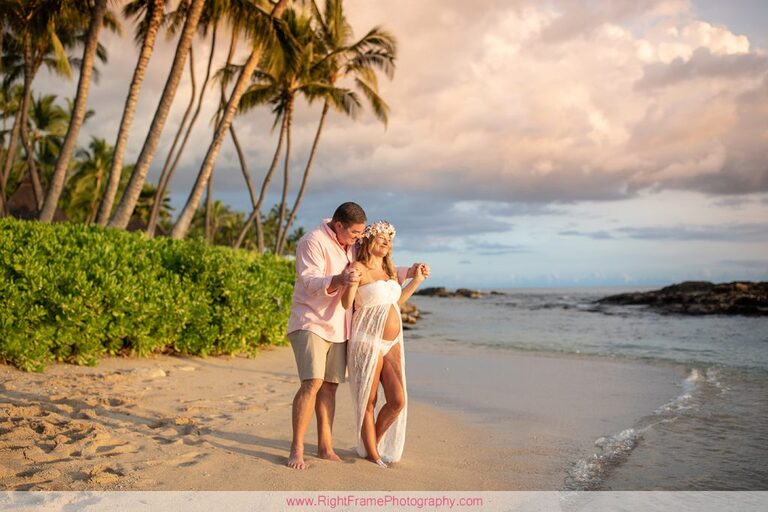 Koolina Maternity Photographer Sunset Pictures Paradise Cove Beach Oahu