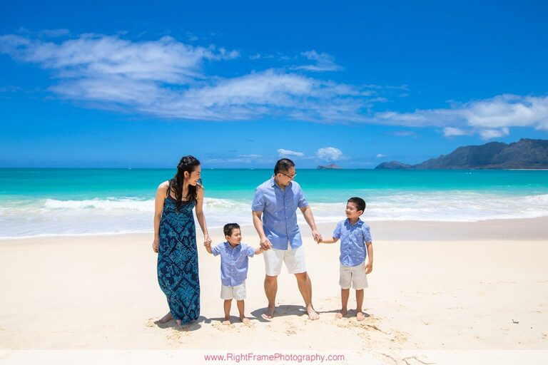 Hawaii Military Photographer family pictures at Bellows Beach Air Force Station  AFB Cabins