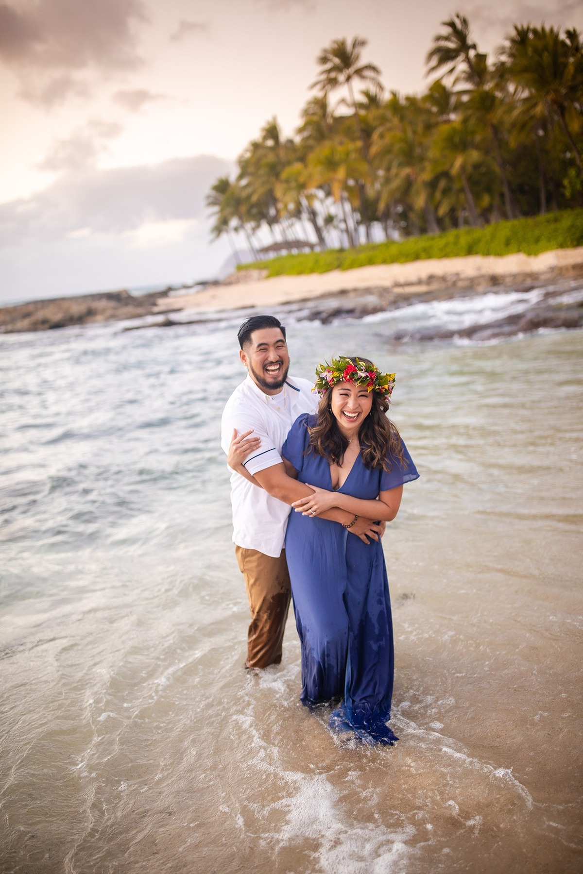 Hawaii Engagement Photographer Oahu Sunset Beach Couples