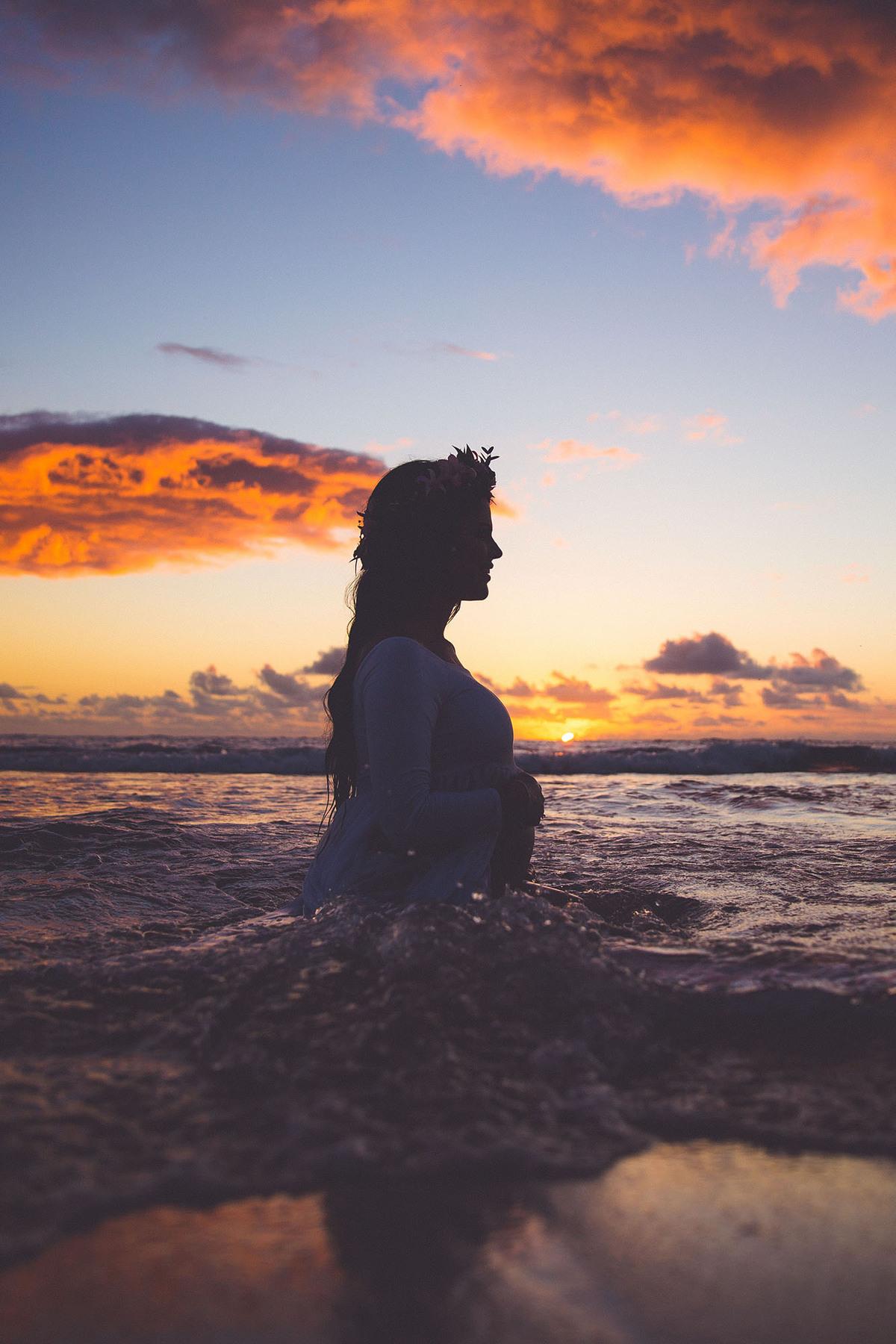 Sunset Maternity Photography Hawaii