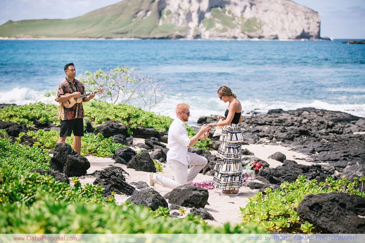 Oahu Proposal Photographer Makapuu Beach